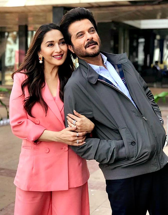 Madhuri Dixit and Anil Kapoor