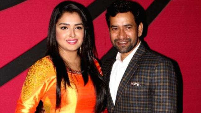 Dinesh Lal Yadav and Amrapali Dubey