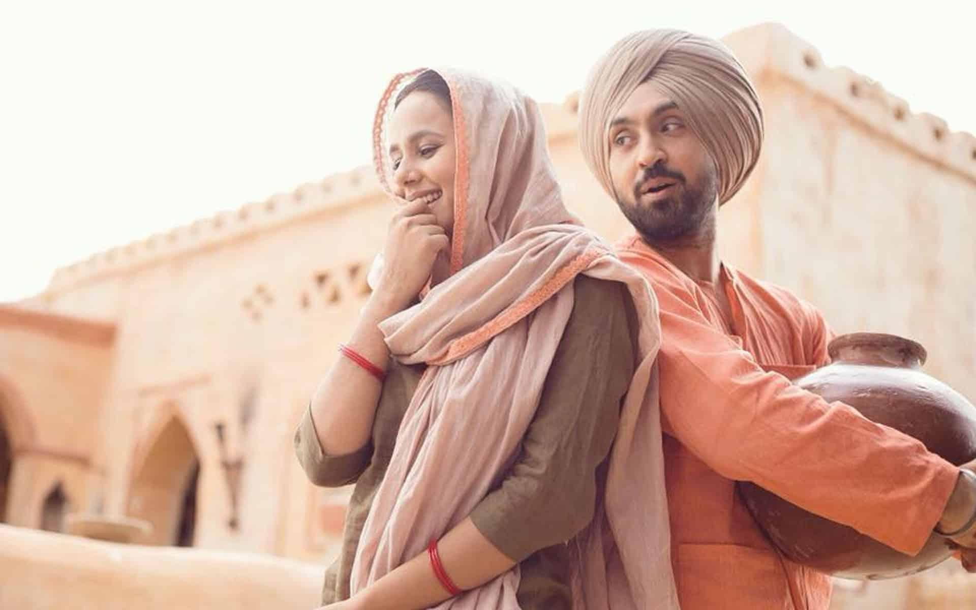 Diljit Dosanjh and Sunanda Sharma
