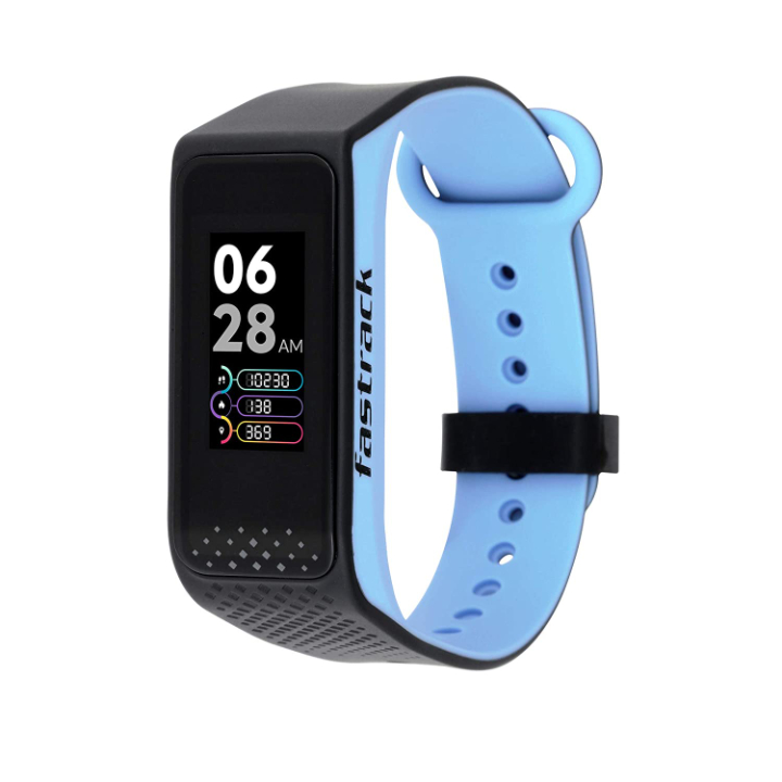 Fastrack reflex 3.0 Uni-sex activity tracker - Full touch, color display, Heart rate monitor, Dual- tone silicone strap and up to 10 days battery life