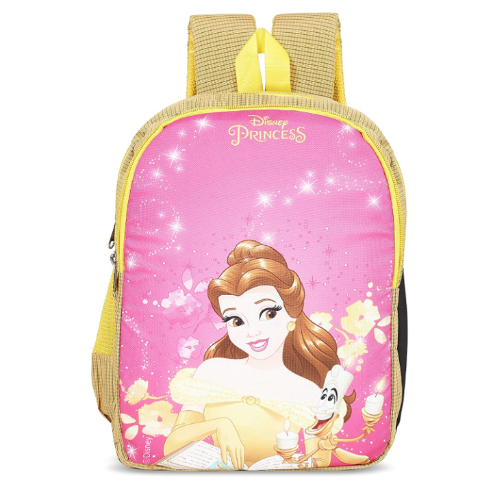 Priority Disney Princess Belle 25 litres Yellow & Pink Polyester School Bag