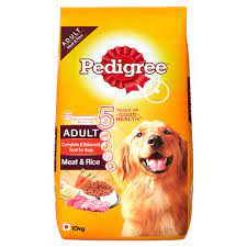Pedigree Adult Dry Dog Food - Meat & Rice, 1.2 kg pack