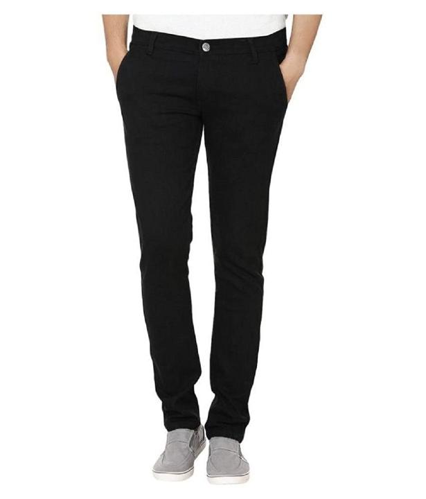 Urbano Fashion Men's Black Slim Fit Denim Jeans Stretchable