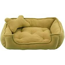 Fluffy's Luxurious Reversible Polyester Filled Dog and Cat Bed, Beige (XXXL)