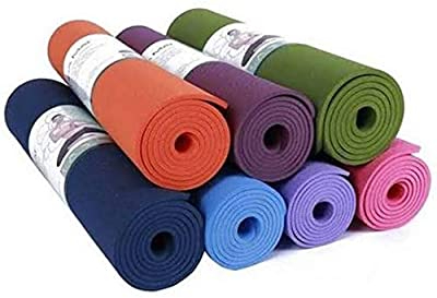 Fitness Mantra® Eco-Friendly, Anti-Slip 6MM Yoga mat for Gym Workout and Flooring Exercise Long Size. 6 MM Yoga Mat for Men & Women Fitness [Multicolor][1 Pcs.][6MM]