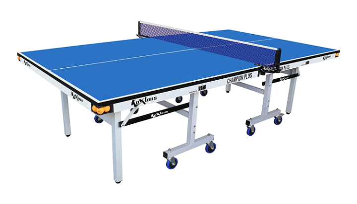 Koxtons Champion Plus Table Tennis Table- 25 mm (Free Cover + 2 TT Bats & 3 Balls-3 Star with Wrist Band)