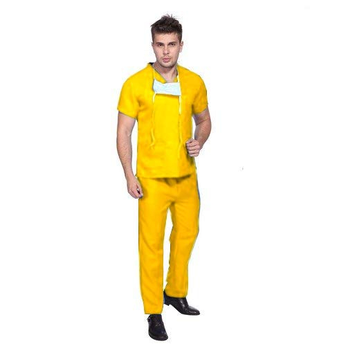 PrimeSurgicals Unisex Scrub Suit with 3 Top and 2 Trouser Pockets