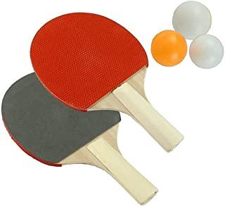 N M Z Table Tennis Racquet Set pet of 2 Racket, pet of 3 Ball ( Multi Color 1Pcs)
