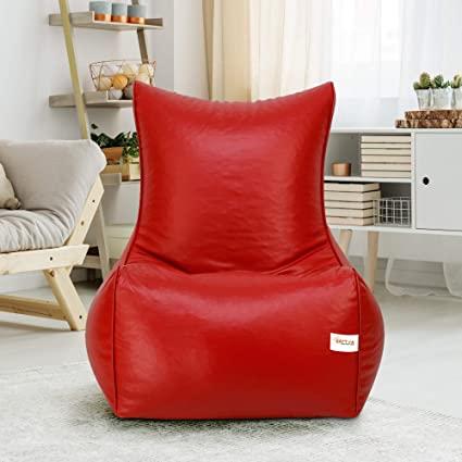 Sattva Chair Style Bean Bag XXXL Bean Bag Filled (with Beans) - Maroon**