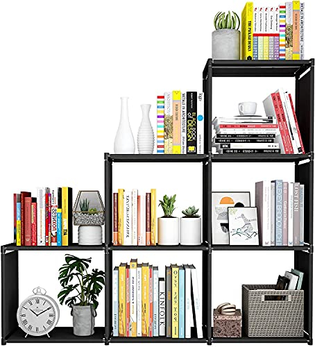 Snazzy Metal Foldable Open Book Shelf, Book Shelve Book Case, Book Rack, Book Storage Rack for Study Room (Black)