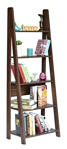 DeckUp Reno Ladder Book Shelf/Display Unit (Walnut, Matte Finish)