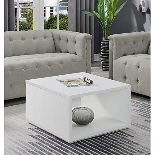 HEERA MOTI CORPORATION Engineered Wood Casual Box Coffee Sofa Center Table for Living with White Pre-Laminated Matte (White)