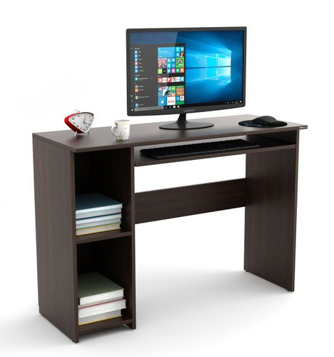 BLUEWUD Mallium Engineered Wood Matte Finish Study Table, Laptop, Computer Table Desk for Home and Office ( Brown , Wenge - Large)