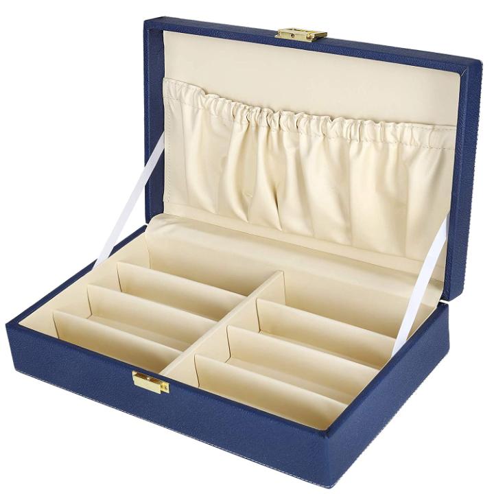 Fico Hard Craft Sunglass Eye-wear 8 Compartments Storage Organizer Box