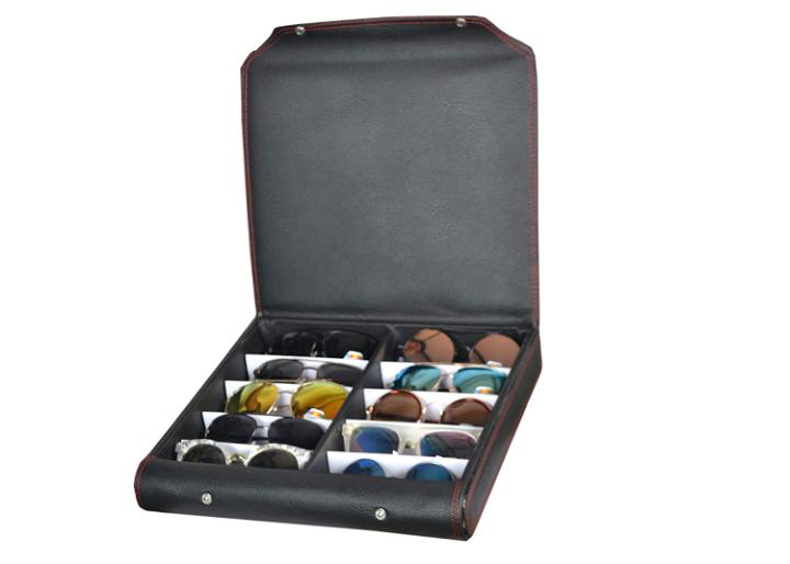 Sunglass, goggles, eyewear, 10pcs Leather Box case cover zipper dubba