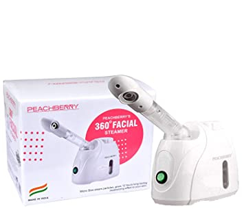 Peachberry 360� Rotatable Facial Steamer For Cold/Cough/Sinus/Asthama/Allergy Nano Ionic Steam Thermal Therapy/Atomizer/Humidifier/Moisturizing Face/Sauna/Spa Steamer for Beauty Salon Use (Model-3)