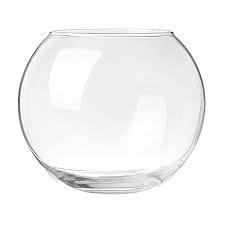 SHOBHANA ENTERPRISES Crystal Clear Glass Fish or Terrarium Round Bowl (8 inches)