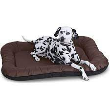 Mellifluous 3XL Size Dog and Cat Reversible Pet Bed (Brown and Black)