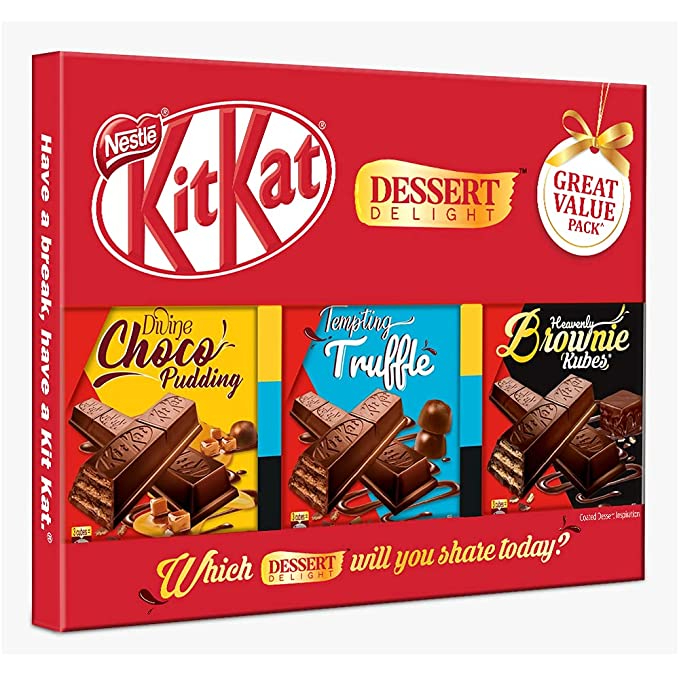 Nestle Kitkat Dessert Delight Wafer - Coated with Chocolate 150g - Pack of 3