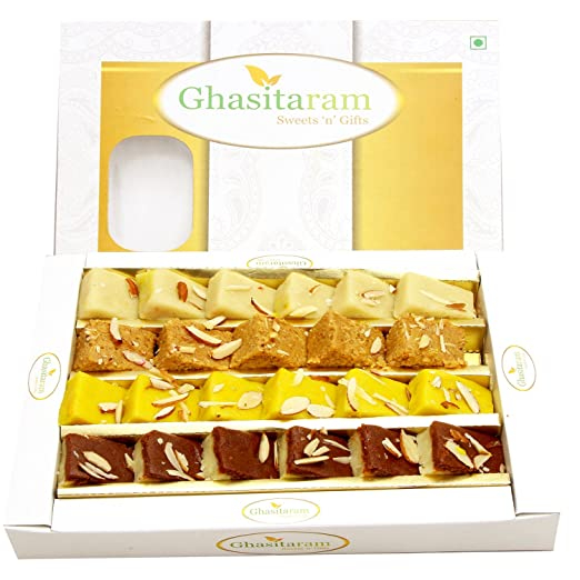 Ghasitaram Gifts Sweets - Mawa Barfis Box (400gms)