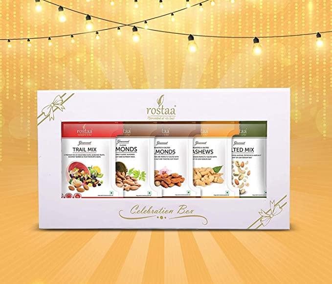 Rostaa Nutty Affair Celebration Box 175gm | Dry Fruits Box | Dry Fruits Gift Hamper | Gourmet Hamper | Dry Fruits Gift Pack | Dry Fruits Gifting