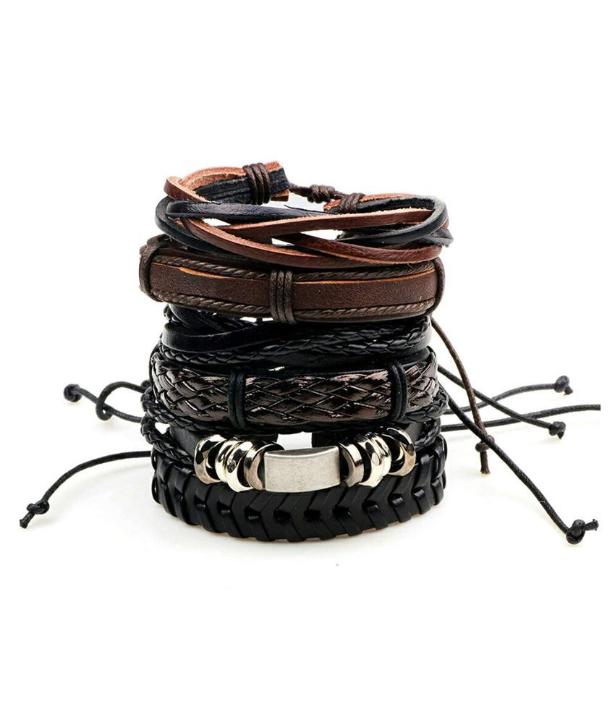 Impression Leather Bracelets Set for Men & Boys/l./-