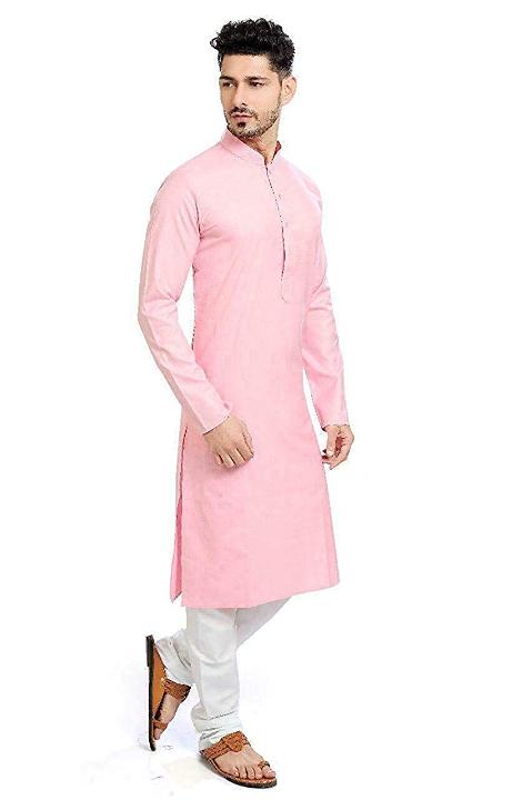 Lookslady Designer Men's Solid Straight Cotton Kurta Pyjama Set