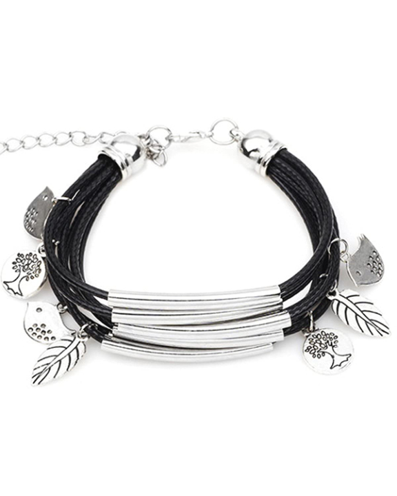 Young & Forever Black Crystal Quirky Bracelet for Women