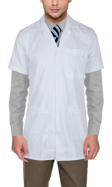 RightCare Men's Half Sleeves Doctor Lab Coat