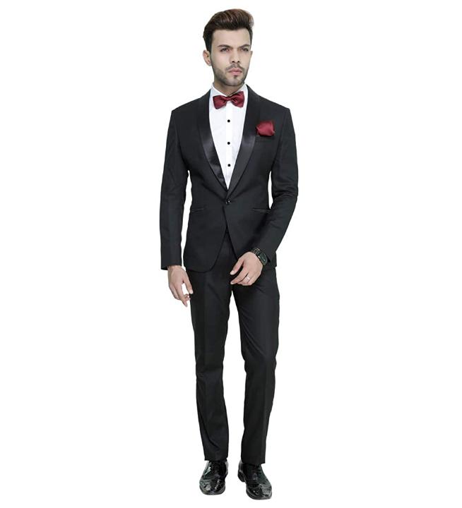 MANQ Men's Slim Fit Tuxedo Suit