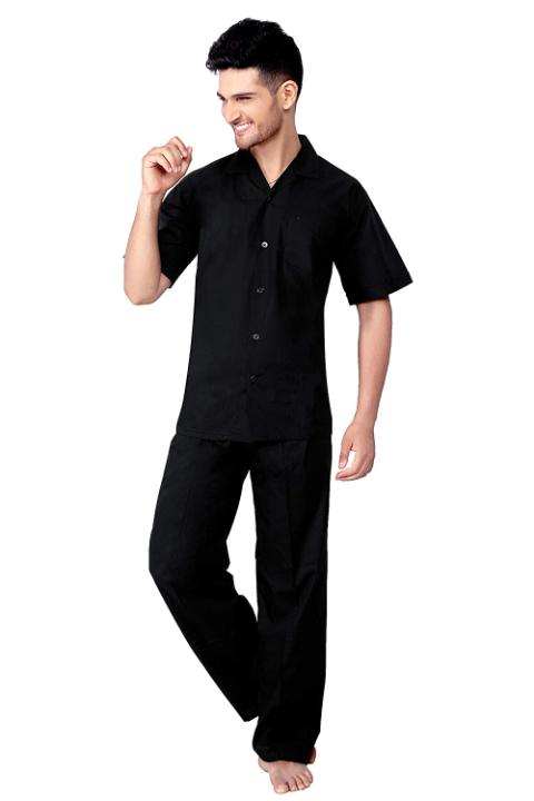 TATWAM Mens Cotton Half Sleeve Nightwear