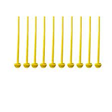 TAIYO PLUSS DISCOVERY® Perch Stick/Suitable for All Type of Imported Cages (Pack of 10) (Color: Yellow)