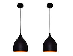 DECORVAIZ 5 Watts Ceiling Light, Black - Pack of 2