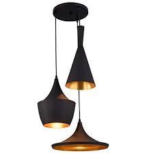 SL Light 40 Watts Ceiling Light, Black, Cage, Round Cluster