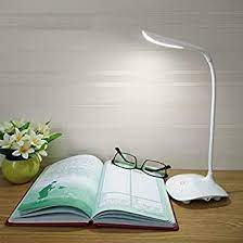 PRIMESKY® Study lamp Rechargeable Led Touch On Off Switch Student Study Reading Dimmer Led Table Lamps White Desk Light lamp