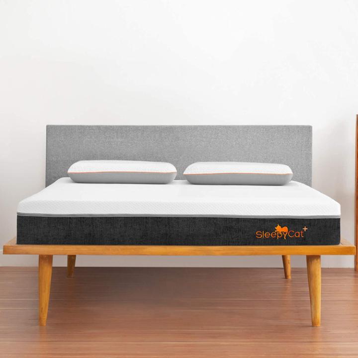 SleepyCat Plus Orthopedic Gel Memory Foam Mattress, Double Bed Size, Medium Soft (72x48x8 Inches)