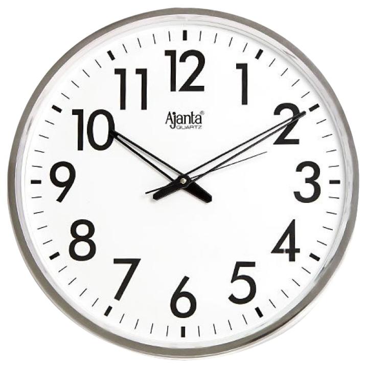 Roll over image to zoom in   VIDEO      Ajanta Quartz Wall Clock (32 cm x 32 cm x 3.5 cm, White)