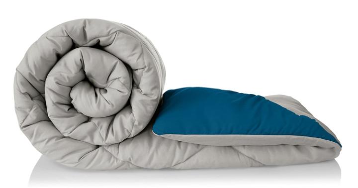 Amazon Brand - Solimo Microfibre Reversible Comforter, Single (Ash Grey & Deep Teal, 200 GSM)
