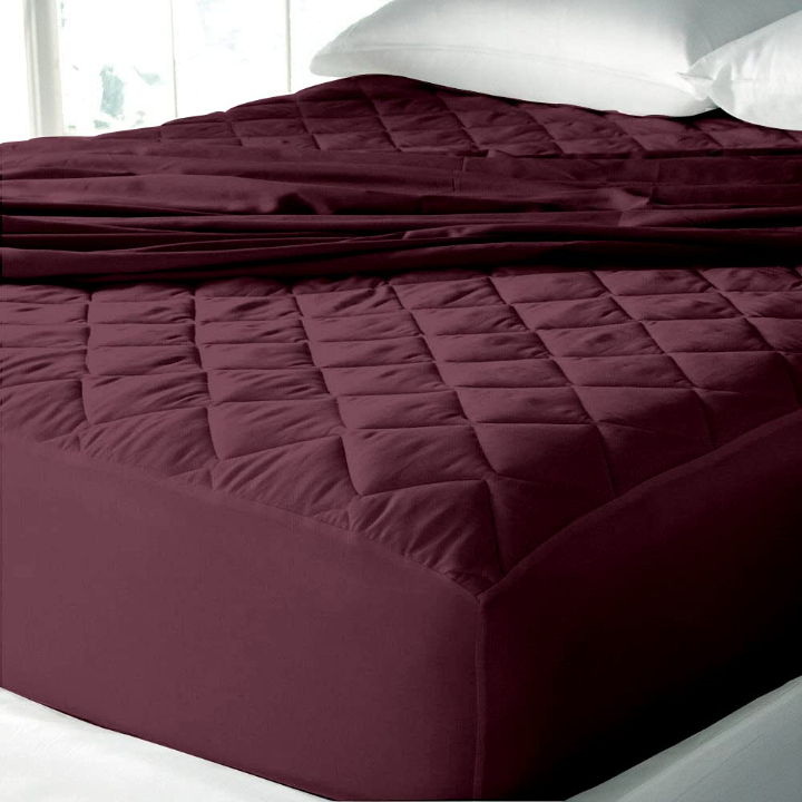 """Cloth Fusion Patron Cotton Quilted Water Proof Mattress Protector- 72""""x36"""" - Single, Maroon"""