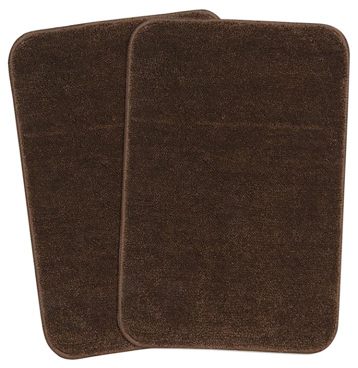 Saral Home Solid Modern Bathmat (Brown, Microfiber, 35X50 CM)