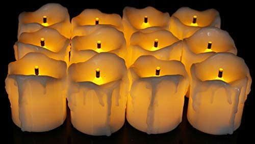 SATYAM KRAFT Plastic Led Tea Light Candle for Home Decoration (Pack of 12, Yellow, 5 cm)