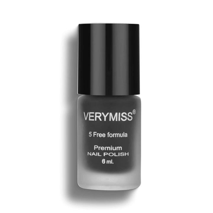 Verymiss Premium Matte Nail Polish - Black 6ml