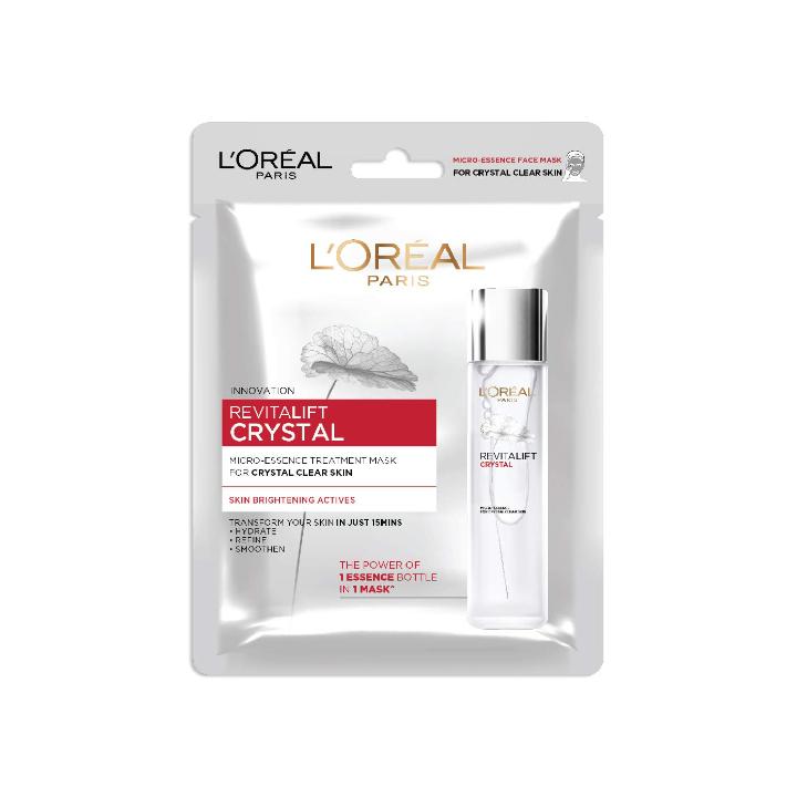 L'Oreal Paris Revitalift Crystal Micro-Essence Sheet Mask, 25g, 25 g