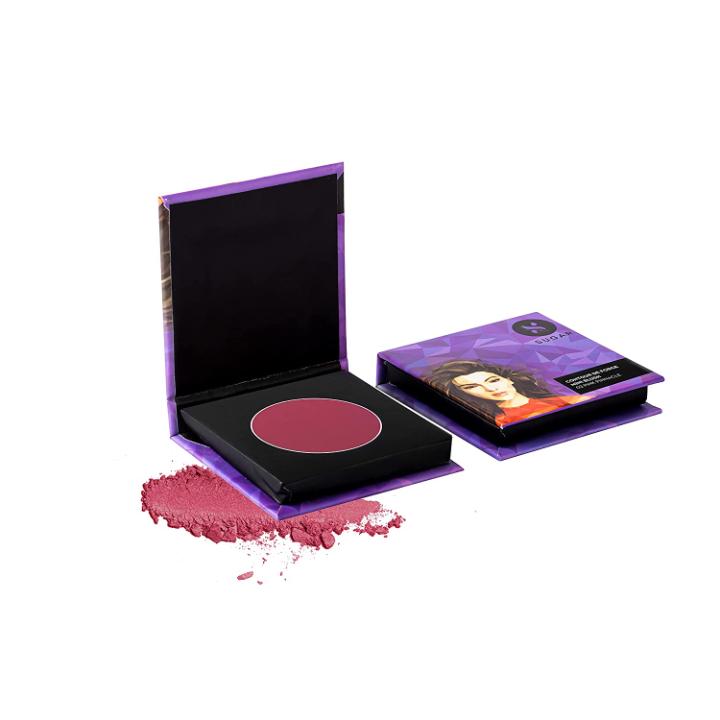 SUGAR Cosmetics Contour De Force Mini Blush - 02 Pink Pinnacle (Deep Rose) | Long - Lasting | Minimal Effort Required For Smooth Skin Longlasting Formula, Lightweight
