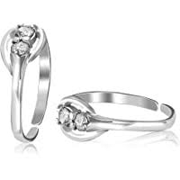 Silver Style Women's 925 Sterling-Silver Jewellery Fancy Design Toe-Ring