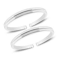 MJ 925 Simple Yet Elegant Silver Toe Rings (Leg Finger Rings) in Pure 92.5 Sterling Silver for Women