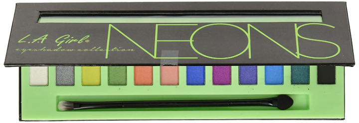 L.A GIRL Beauty Brick Eyeshadow, Neons, 12g
