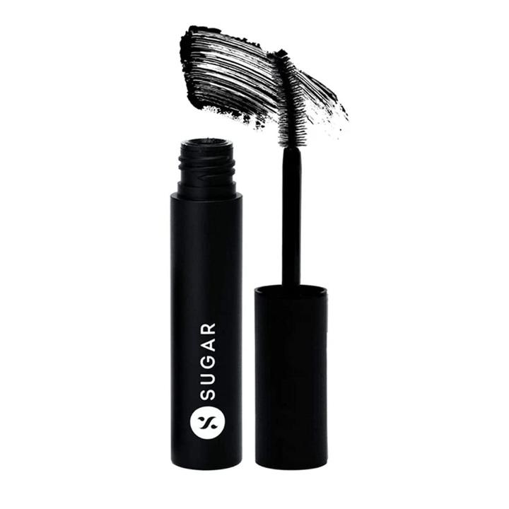 SUGAR Cosmetics Uptown Curl Lengthening Mascara - 01 Black Beauty (Black) Ultra-Creamy, Fibrous Texture, Lightweight And Intensely Black, Lash Growth Formula