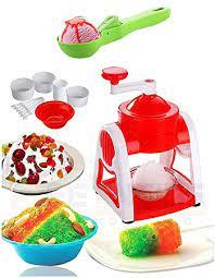 NK STORES Home Ice Gola Slush Maker Ice Snow Maker Machine with (Multicolor) + Free Ice Cream Scooper