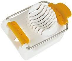 Kai Japan Stainless Steel Egg Slicer, White & Yellow